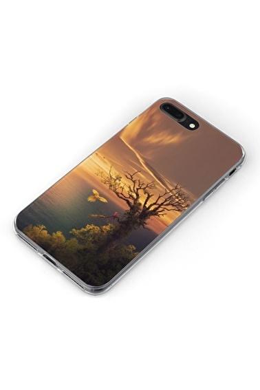 Lopard Apple İphone 8 Plus Kılıf Deniz Gün Batımı Kapak Renkli